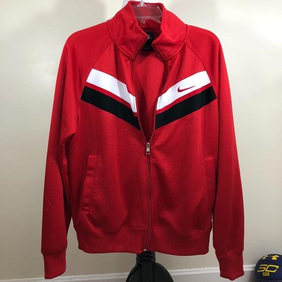Nike Men s Red Black Track Athletic Sport Jacket. M 5ad3a8ff9cc7ef751565d31d ad4c01af8